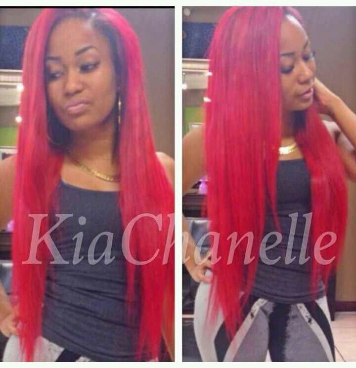 Red Remy Hair Tracks Remy Indian Hair