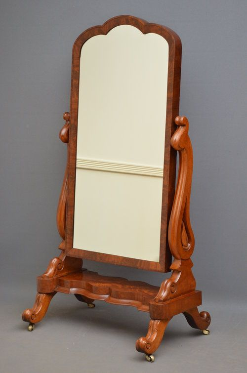 Antiques Atlas - Fine Early Victorian Mahogany Cheval Mirror