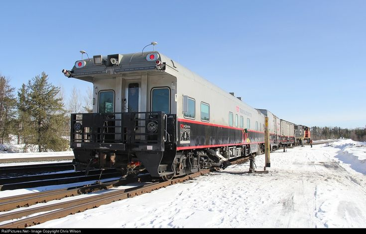 The track geometry test train leaves the yard at Armstrong and heads onto the Caramat Sub. Armstrong, Ontario, Canada. RailPictures.Net Photo: CN 1057 Canadian National Railway Geometry TEST Car at Armstrong, Ontario, Canada by Chris Wilson