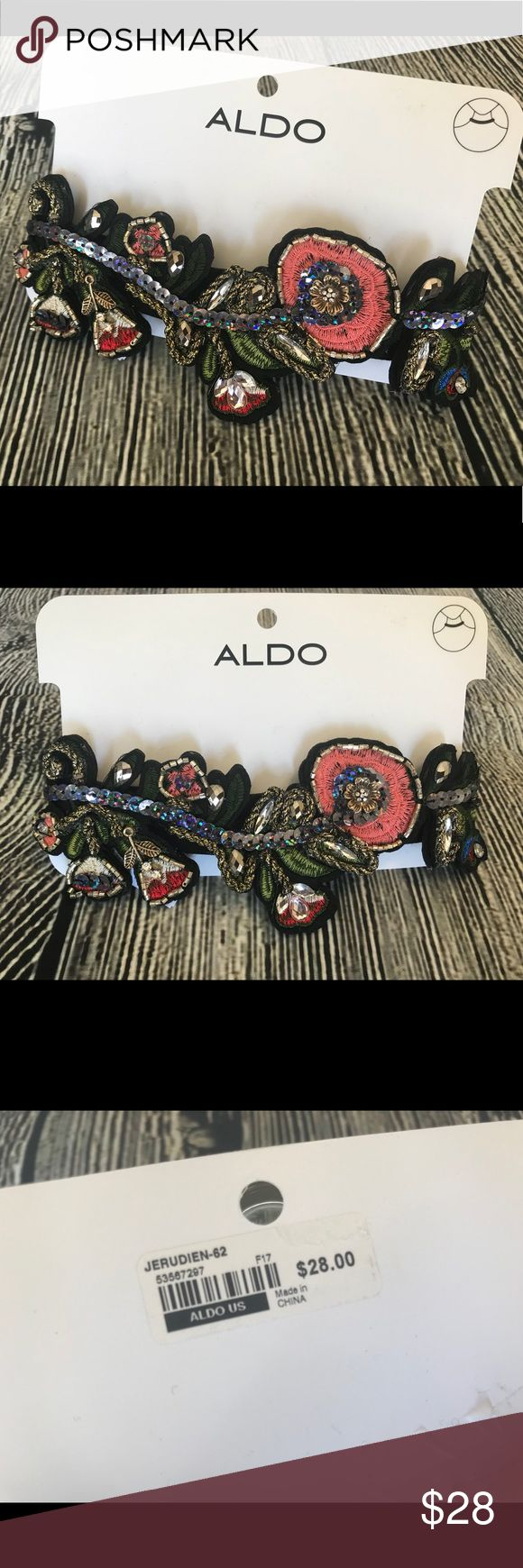 💐Aldo Statement Embroidered Choker Necklace💐 Aldo Statement Embroidered Choker Necklace. Adjustable. New with Tags. Aldo Jewelry Necklaces