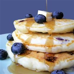 "Todd's Famous Blueberry Pancakes | ""Simple but delicious blueberry pancakes. Fresh or frozen blueberries are equally good."" http://allrecipes.com/Recipe/Todds-Famous-Blueberry-Pancakes/Detail.aspx"