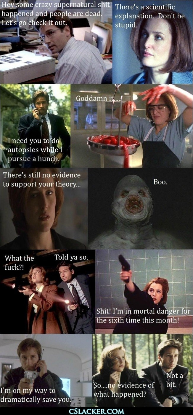 The X Files abridged version - so true, yet I tuned in for every episode....