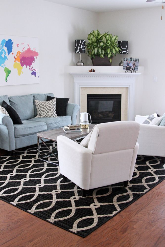 a rug makes a huge difference also a giveaway for a free 5x8 rug - 5x8 Rugs