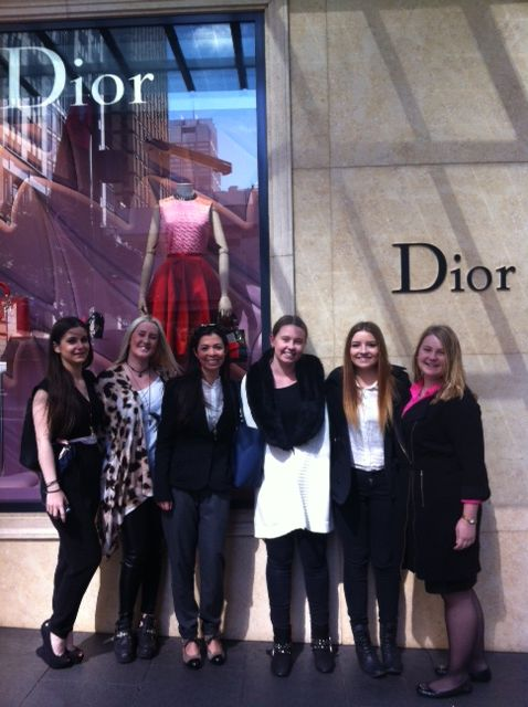 Our Interior Design students visiting Dior in Sydney with Yolanta Huber, the Boutique Ambassador.