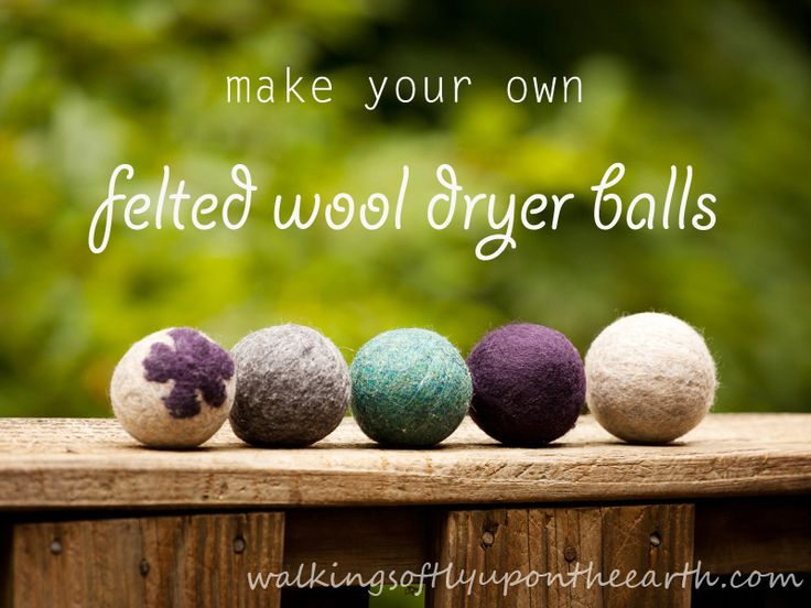 Make your own dryer balls out of felted wool How I got my husband to look at me like I'm nuts...today - via Walking Softly Upon the Earth