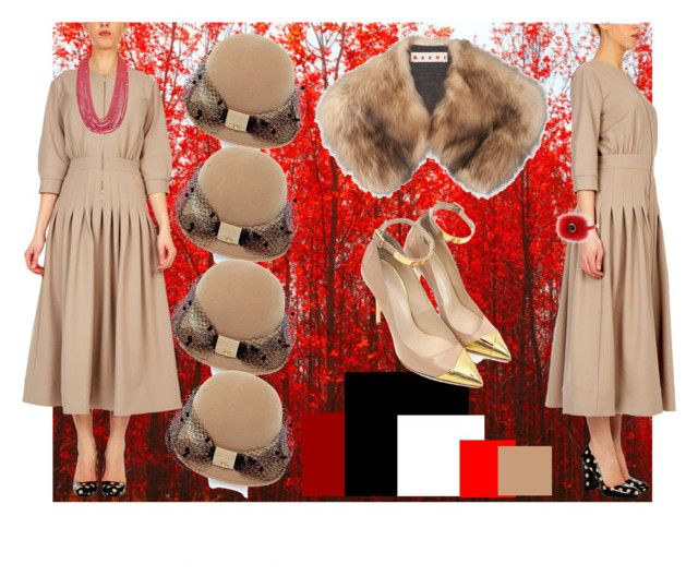 """""""Red & Tiffany Chic"""" by alteregodress on Polyvore featuring Marni, Balmain and Fendi"""