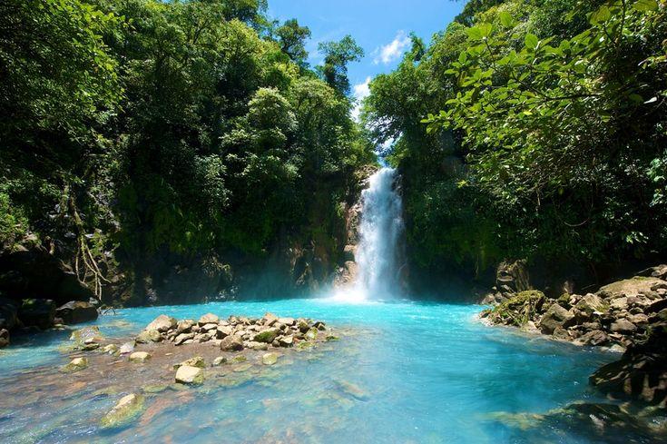 Tenorio Waterfall, Costa Rica                              …