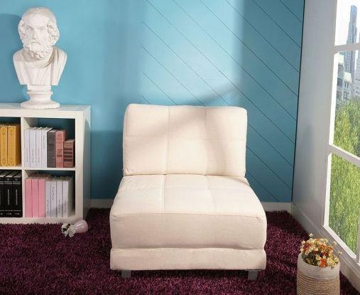 Leader Lifestyle Rita Beige Fabric Futon Chair Bed
