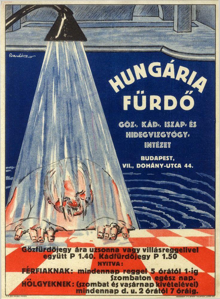 Hungária Fürdő - Budapest - 1931. - plakát