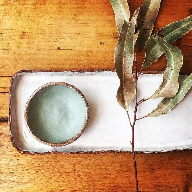 Rustic bowl and plate #handmade #ceramics #pottery