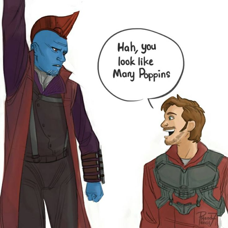 I'm Mary Poppins y'all! This scene is both funny, and heartwarming. Its the first time Peter saw Yondu in a new light :')