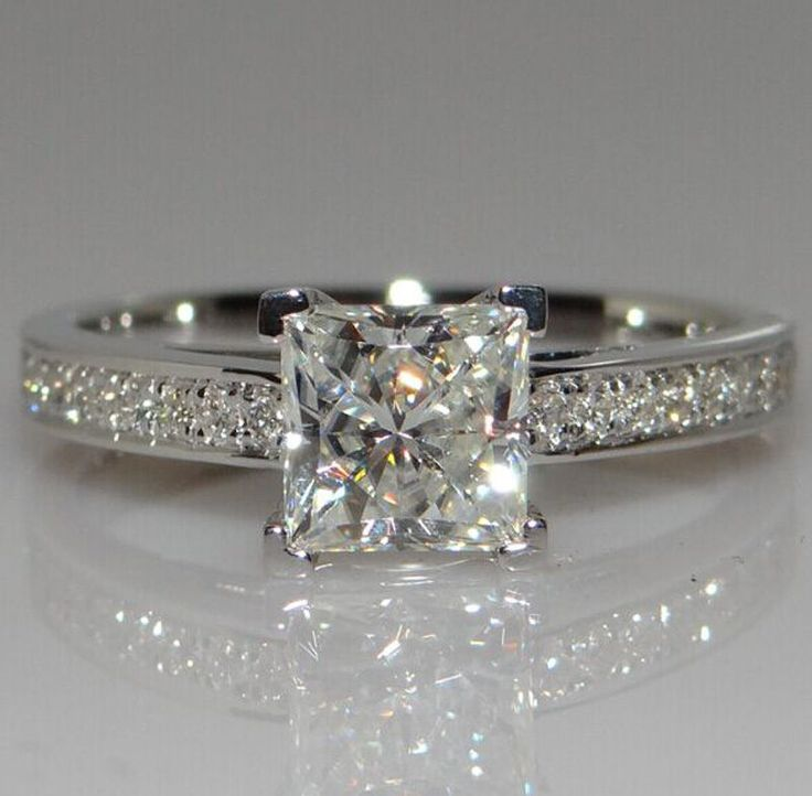 Be special: White Sapphire Birthstone 925 Silver Ring Price  €...