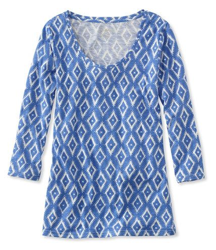 Now on sale at L.L.Bean: our West End Fitted Tee, Three-Quarter-Sleeve Scoopneck Ikat Print. Get free shipping and the best prices on Women's Shirts Tops.