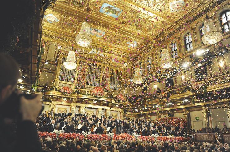 "New Year's Concert by the Philharmonic The New Year's Concert of the Vienna Philharmonic, said to be the ""most famous concert in the world"", is held three times each year, in the Golden Hall of Vienna's Musikverein, at 11 a.m. ..."