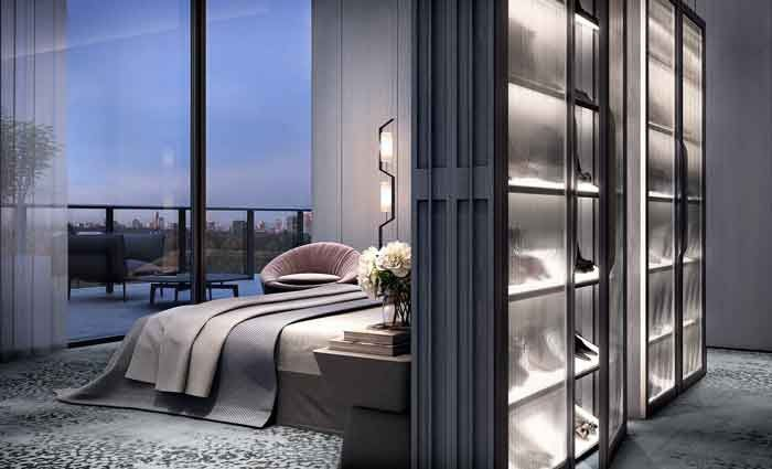 The 507 square metre residence, together with an approximately 301 square metre terrace, boasts three-metre high ceilings throughout, which, along with the 36-metre marble runway that acts as the pivot for the home, combine to give the penthouse the opulence it deserves.