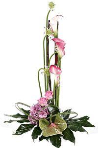 Brilliant modern tall flower arrangement