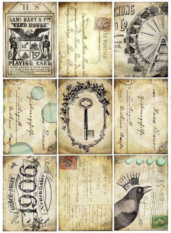 ephemera #paperie #printables #shabbychic #vintage #labels