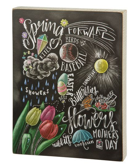 April Showers Bring May Flowers Spring Chalkboard: 42 Best Chalk About Spring Images On Pinterest