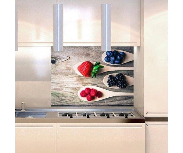 Schienala adesivo cucina Frutti Rossi - Protezione per retrofornelli