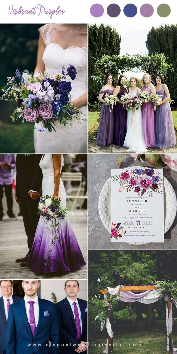 10 Pretty Shades of Purple Wedding Color Combos  – Wedding Colours
