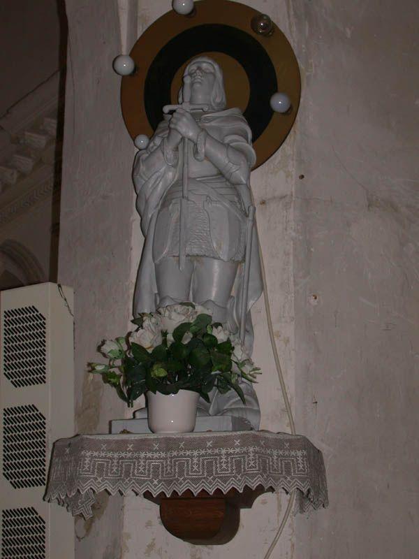Statue de Jeanne d'Arc. Eglise Notre-Dame du Mont-Carmel . Margon. Centre