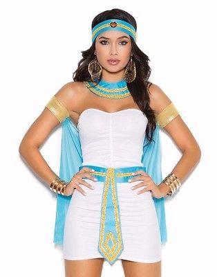 Egyptian Queen Costume Small S Women Sexy Halloween Egypt Nile Goddess Dress                                                                                                                                                                                 More