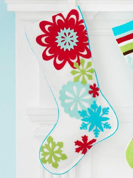 Snowflake Felt Stocking