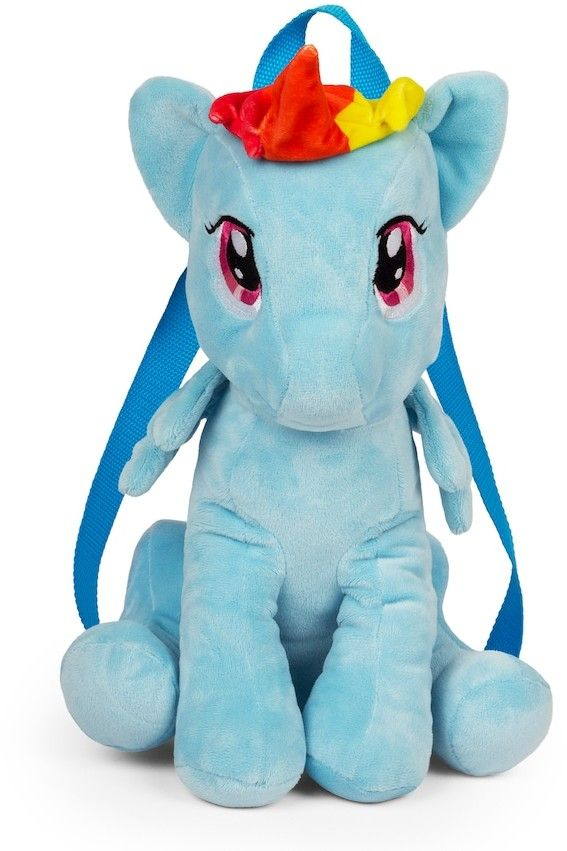 Girls My Little Pony Rainbow Dash Plush Backpack