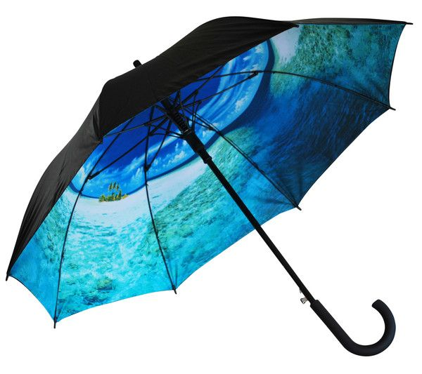 'Marooned at Sea' Classic Umbrella | Where I'd Rather Be | http://www.whereidratherbe.co.uk/products/marooned-at-sea-classic-umbrella
