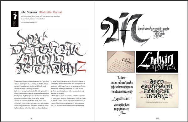 Brush & Pen Calligraphy by John Stevens, via Behance