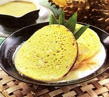 Serabi with durian sauce - Indonesian Food