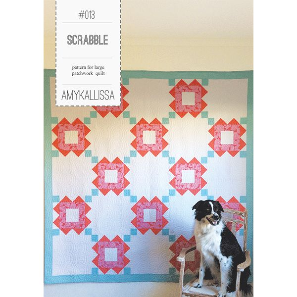 Scrabble Quilt Sewing Pattern Available in PDF Download and Print