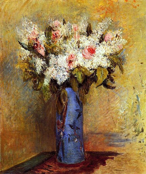 bofransson:  Vase of Lilacs and Roses Pierre Auguste Renoir - circa 1870