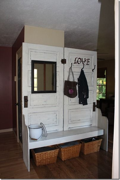 Foyer Bench Xbox One : Best images about old doors on pinterest shelves