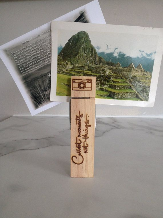 Giant Peg - Collect moments not things quote - Photographs - Photo holder - Photograph display