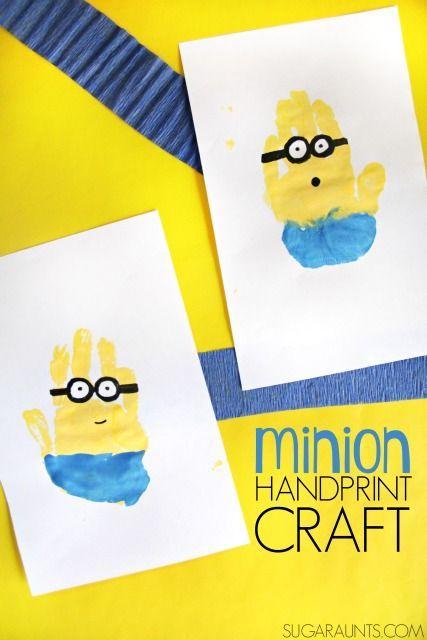 Minion movie night party decorations, minion crafts, and minion snacks #MinionsMovieNight ad