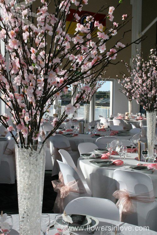 HIRE cherry blossom centrepieces