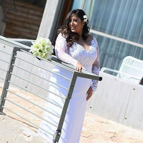 This highly embellished wedding gown is ornate but not over the top. A bride can ask our US dress design firm to recreate this or any other dress from the internet with any changes or preferences they want or need. We are specialize in custom #plussizeweddingdresses & replicas of couture bridal gowns for much less than the original. Get pricing on long sleeve bridal gowns for fuller figured brides when you visit our main website at www.dariuscordell.com
