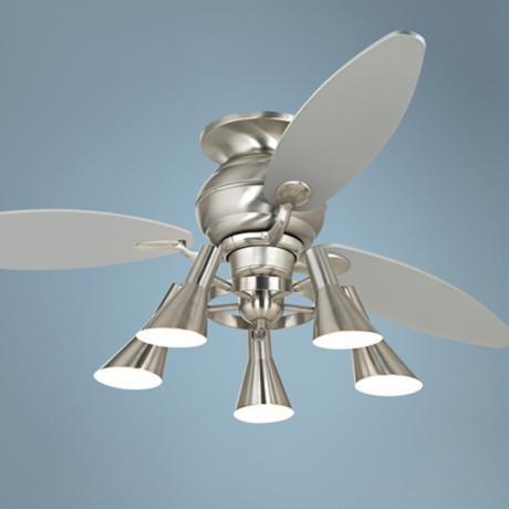 """60"""" Spyder™ Hugger Silver Retro Light Kit Ceiling Fan"""