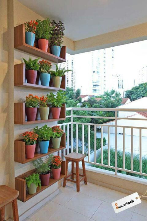#tablillas #madera #plantas ...para la pared de mi balcon!