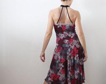 Kleid mit floral print für Tango Milonga tanzen von CrinolinAtelier