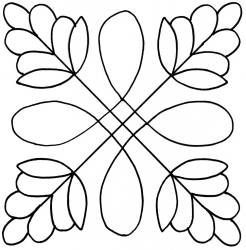 """Celtic Flower 7"""" - would be cute done in wool felt:"""