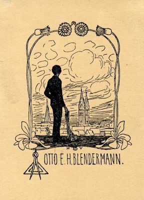 Bookplate by Heinrich Johann Vogeler for Otto E. H. Blendermann, 1897