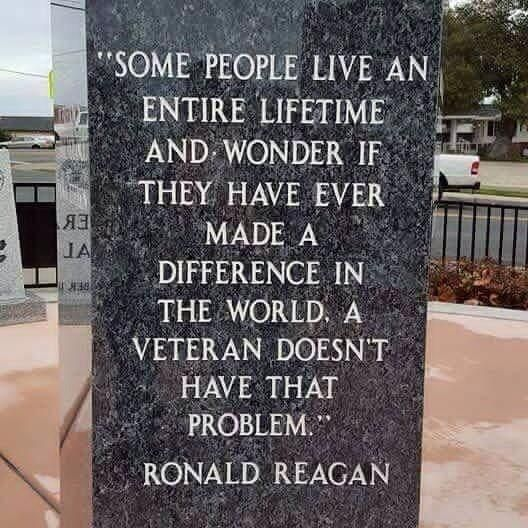Ronald Reagan quote about veterans