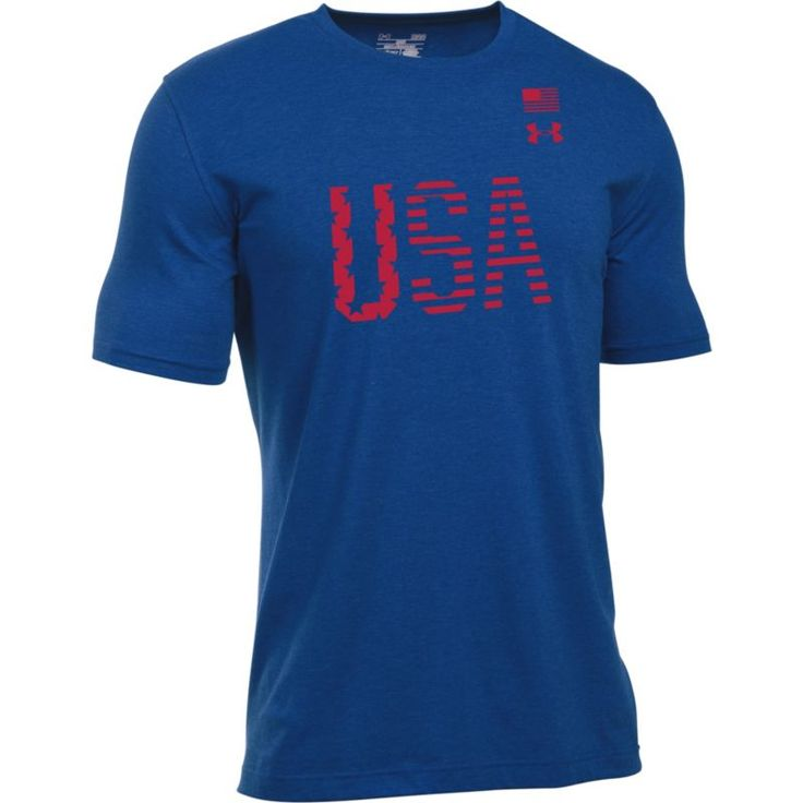 Under Armour Men's USA Flag Graphic T-Shirt, Size: Medium, Blue