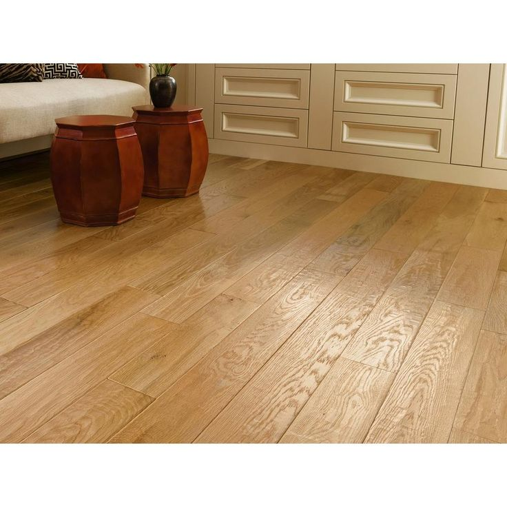 Natural Oak Hand Scraped Solid Hardwood - 3/4in. x 5in. - 100109065   Floor and Decor