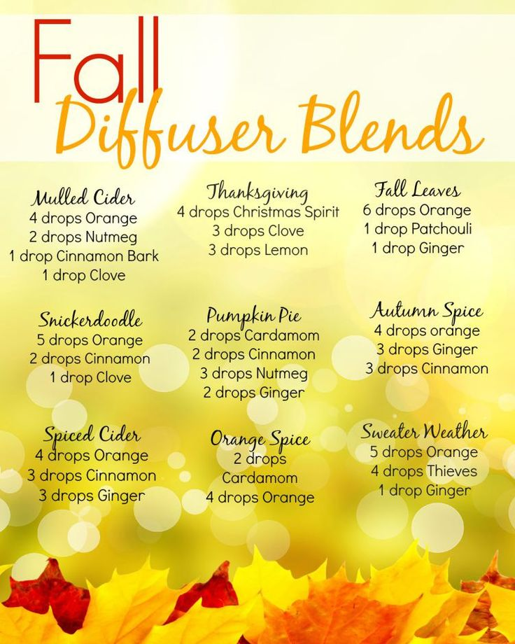 Fall Diffuser Blends ~ Young Living Essential Oils