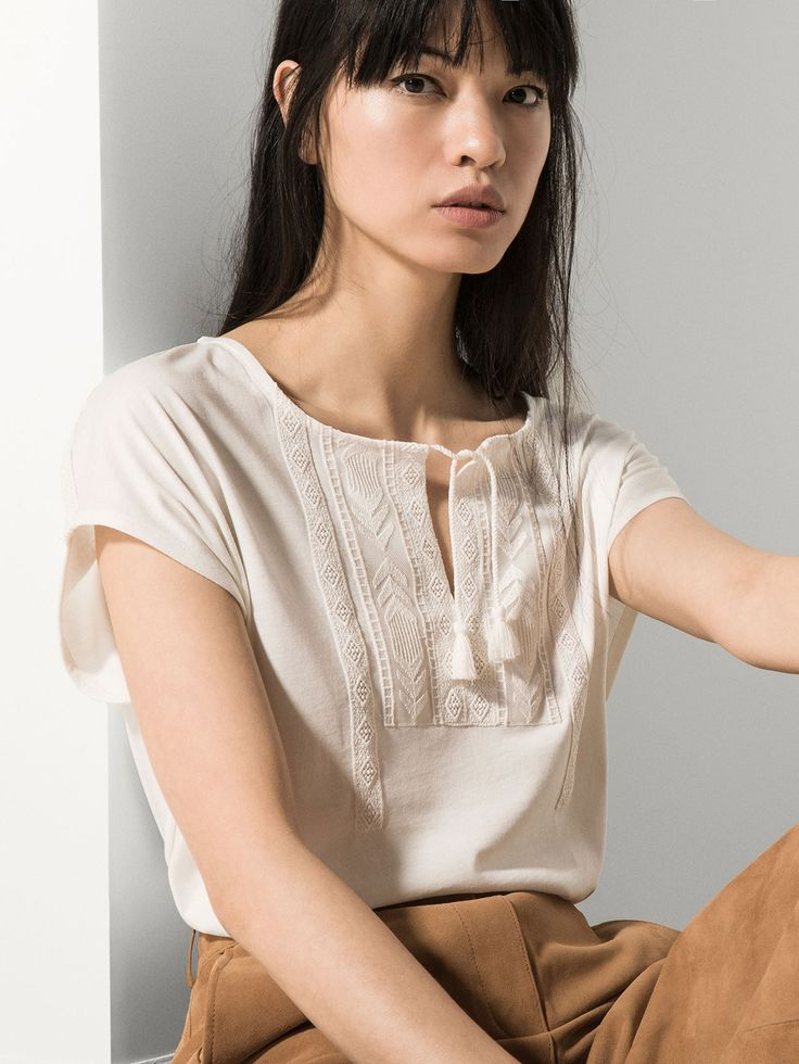 T-SHIRT WITH EMBROIDERED FRONT