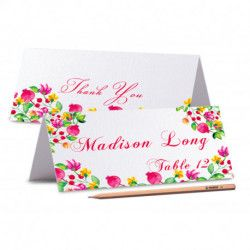 TENT CARDS Floral Bohemian Wedding Place Cards Floral Wedding Place Cards Boho Chic Wedding Place Cards PEONIES Wedding