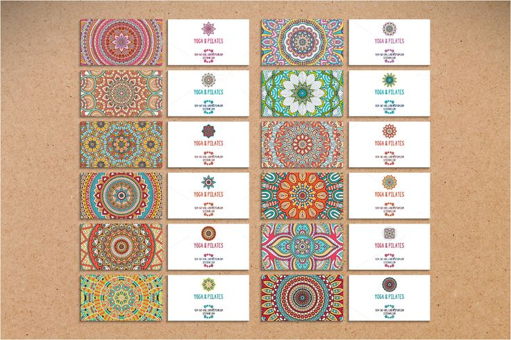 12 Business card in ethnic style by ViSnezh on Creative Market